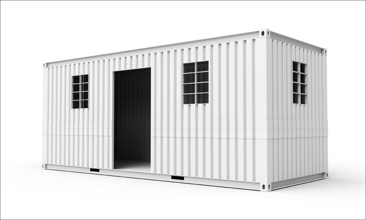 Custom-modified shipping containers